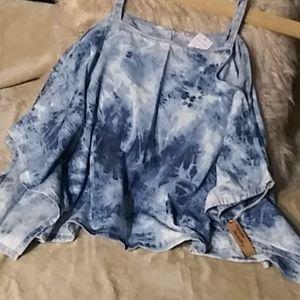 5/$25Hippie Laundry open shoulder top szxl NWT